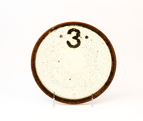 White Plate with Number 3