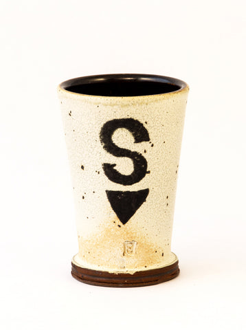 "Tumbler with Letter ""S"""