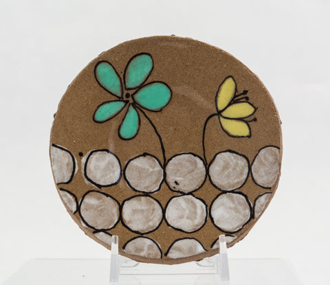 Tiny Floral Motif Plate