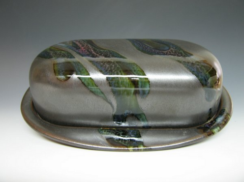 Butter Dish in Black Galaxy