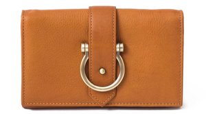 Staney Crossbody Wristlet Wallet (Whisky Raw Leather)