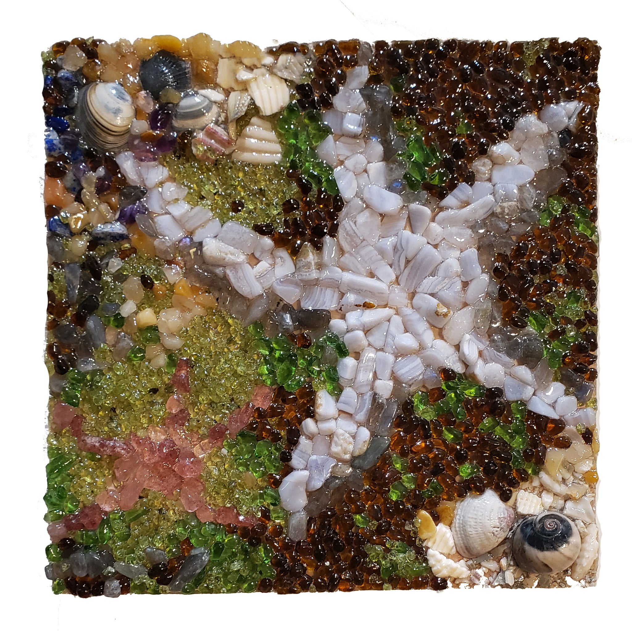 """Starfish"" Semi-Precious Gemstone Mosaic (Assorted)"