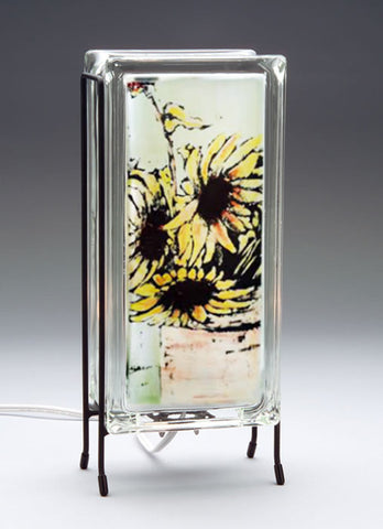 """Sunflowers"" GlowBlock Lamp"