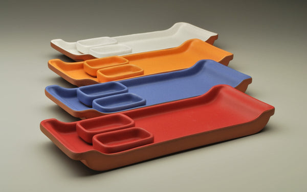 Sushi Tray and Sauce Bowls (Assorted Colors)