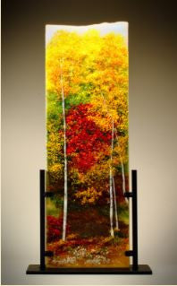 Color of Autumn Glass Frit Painting