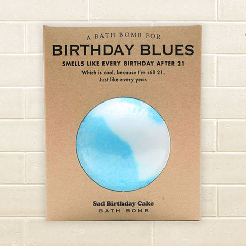 Whiskey River Soap - Birthday Blues Bath Bomb