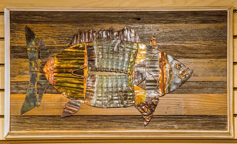Large Copper Fish with White Frame Trim