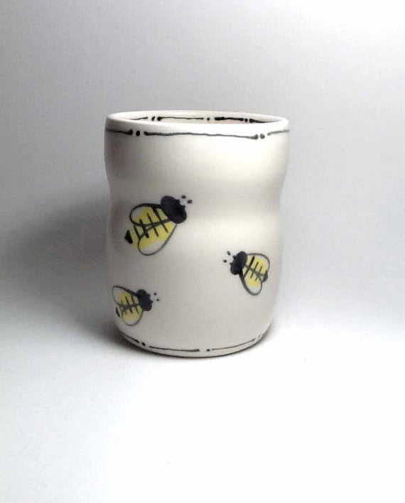 Bee Cup with Deco Rim