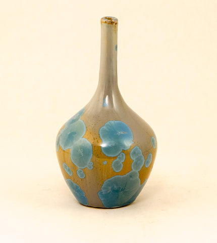 Blair Pottery - Bottle - Light Blue/ Tan