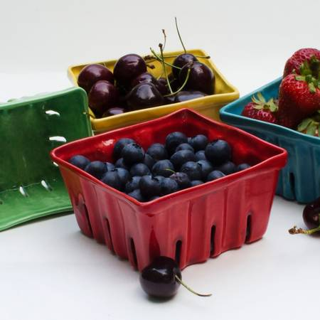 Large Ceramic Berry Basket