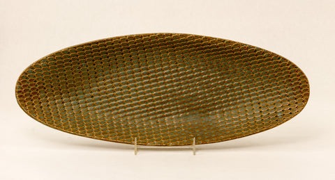 Prairie Sky Studio - Matrix Boat Platter (Old Green)
