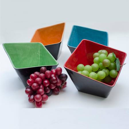 Square Slant Bowl