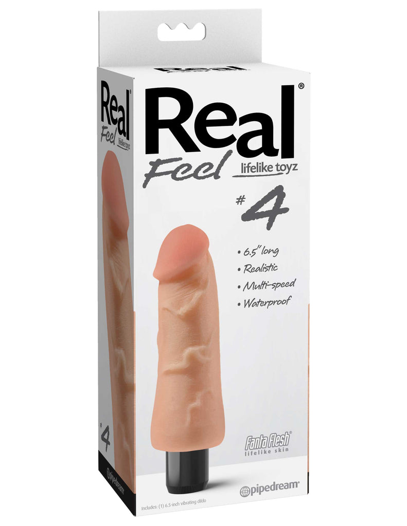 Vibrador Real Feel # 4 - Natural   5.75""