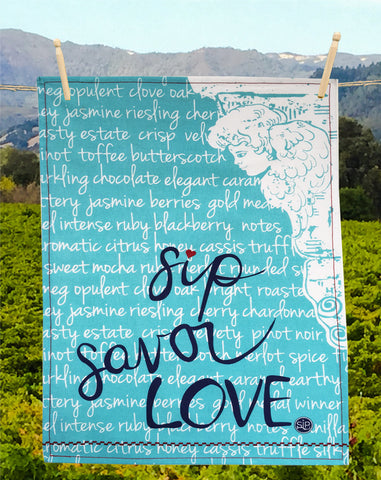 09 Sip Savor Love - Kitchen Towel
