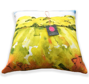 """Blooming Hills"" Pillow"