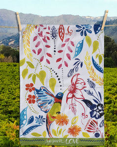 30 Happy Hummingbird - Kitchen Towel