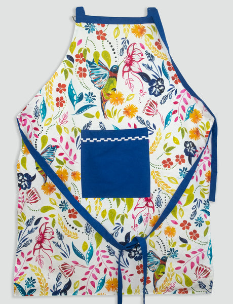 """Happy Hummingbird"" Apron and Pot Holder Gift Set"