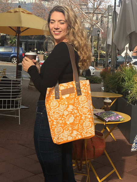 42b Bloom Tangerine Tote