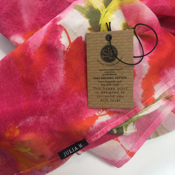 """Expressions"" Organic Cotton Scarf"