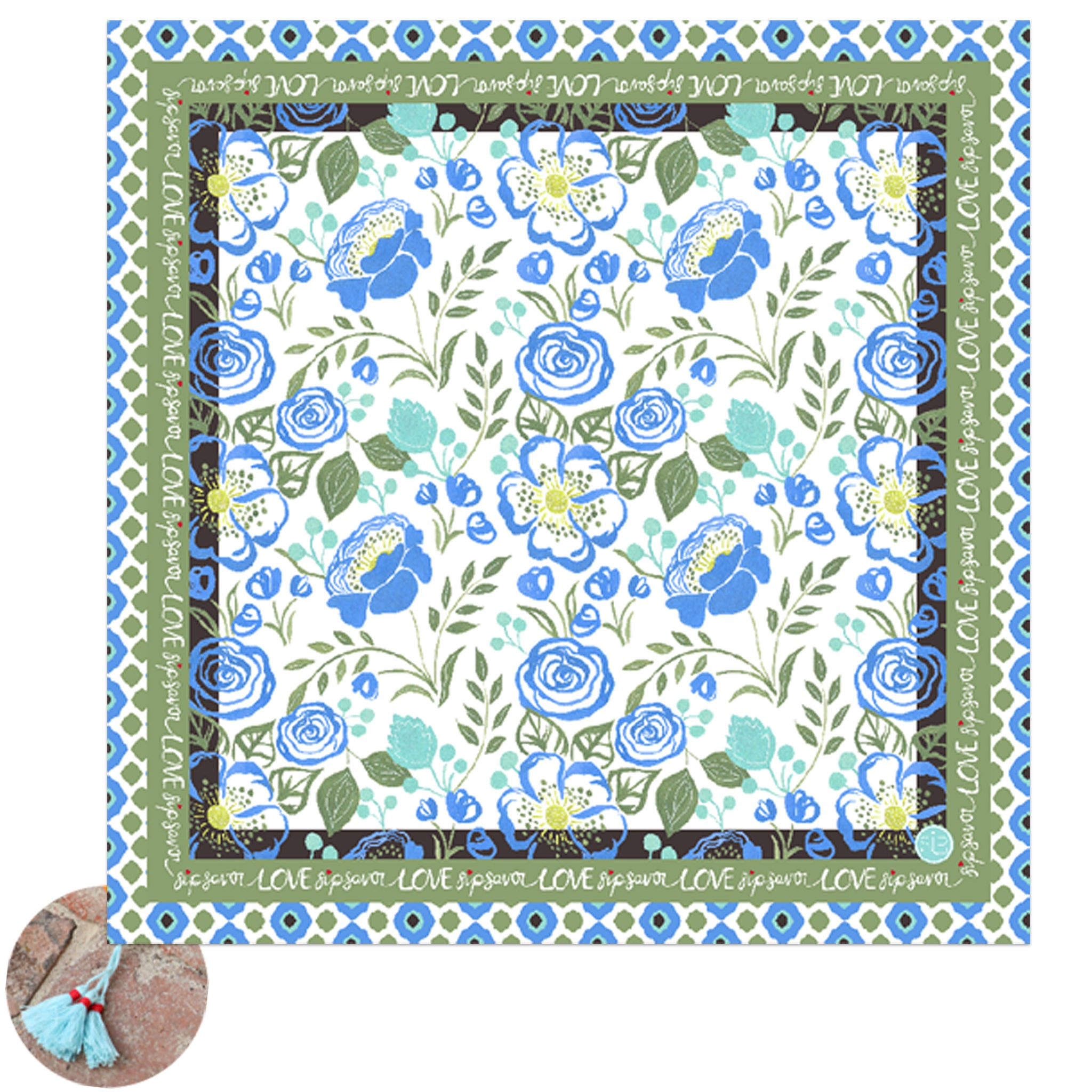 24 Bloom - Picnic Cloth/Table Scarf