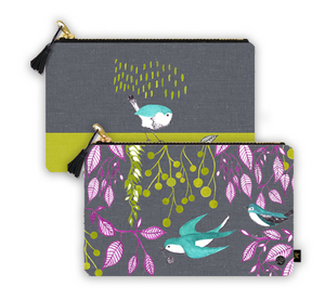 """Bird Dance"" Clutch Bag"