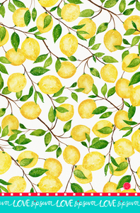 """Lemon Dance"" Kitchen Towel"