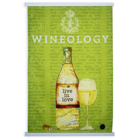 """Wine Series Green"" Kitchen Towel"