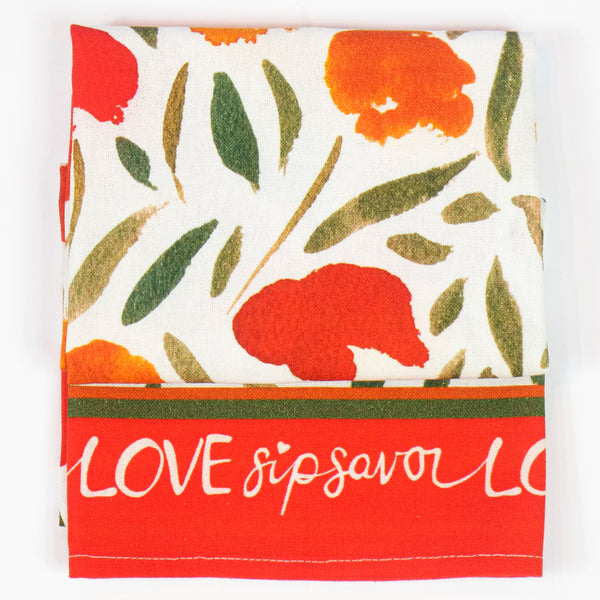 """Poppy Dance"" Kitchen Towel"