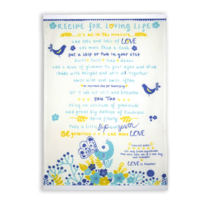 """Recipe for Loving Life"" Kitchen Towel"