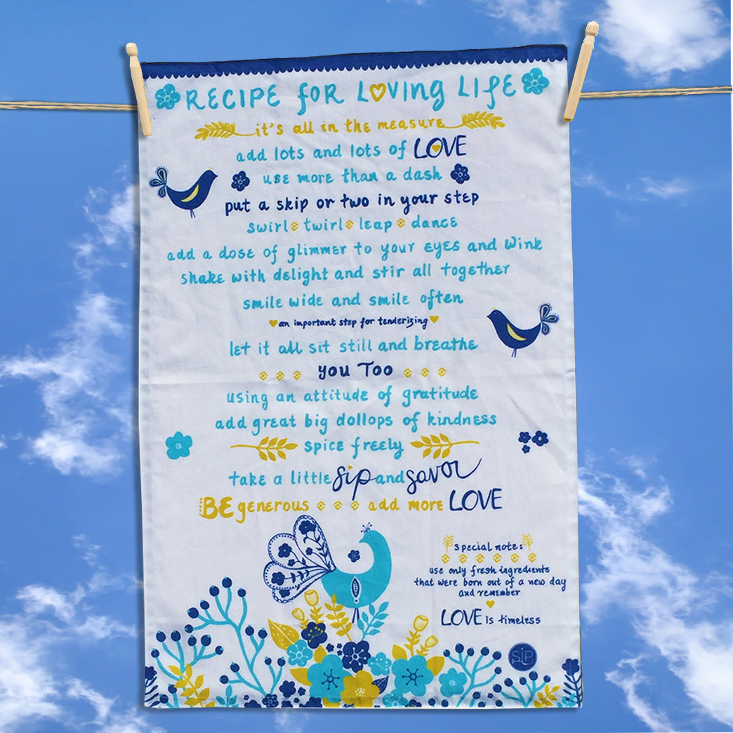 36 Recipe For Loving Life - Kitchen Towel
