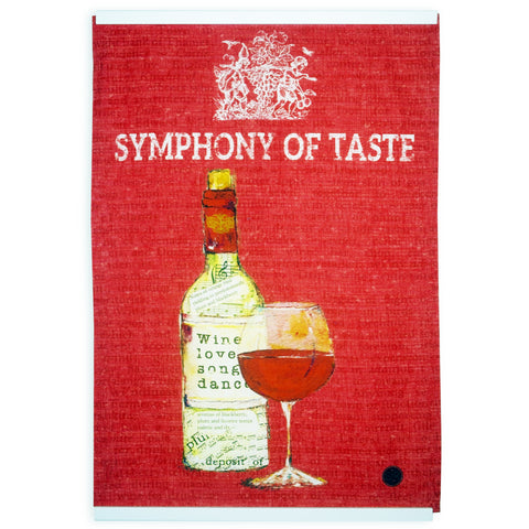 """Wine Series Red"" Kitchen Towel"