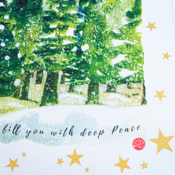 """Deep Peace"" Kitchen Towel"