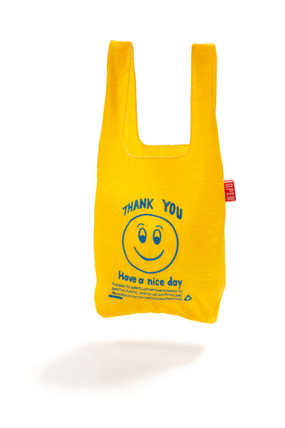 YELLOW + BLUE SMILE TOTE