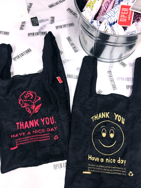 THANK YOU / BLACK ROSE Tote