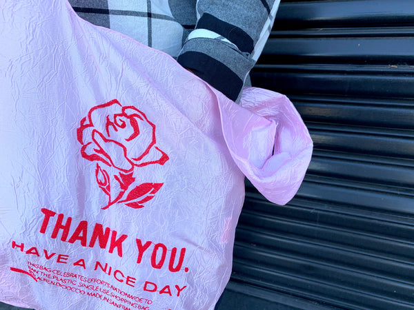 PINK RED ROSE Tote