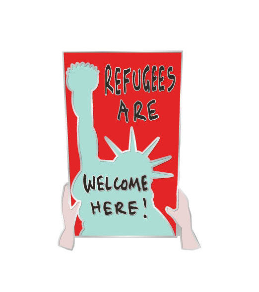 RESIST PIN / Refugees are Welcome Here!