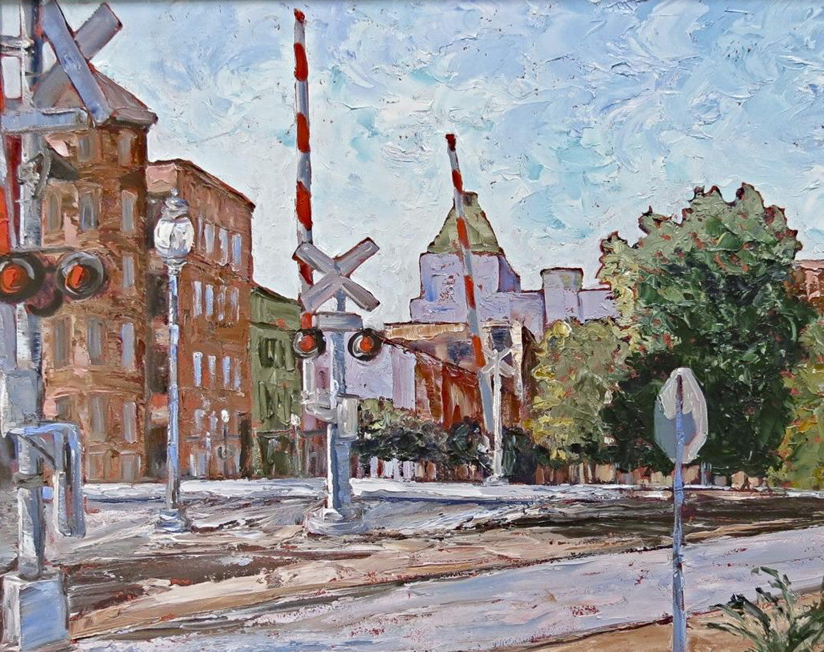Across the Tracks - 22 x 28  800.00 SOLD