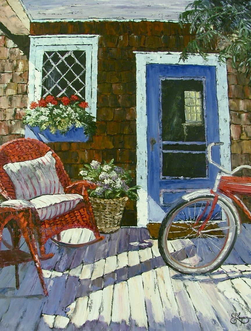 "The Red Bicycle  24x30""  750.00 SOLD"