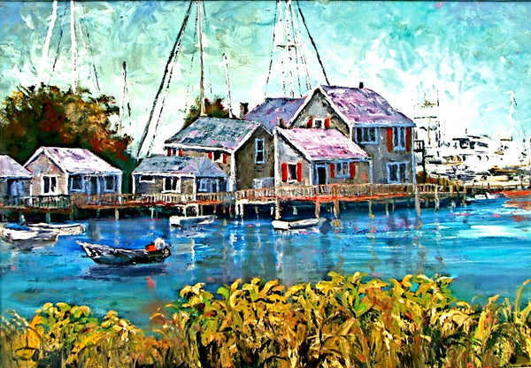 "Nantucket Harbor   24x36""  850.00 SOLD"