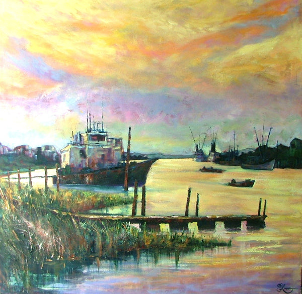 "Intercoastal Sunset    48x48""  1600.00 SOLD"