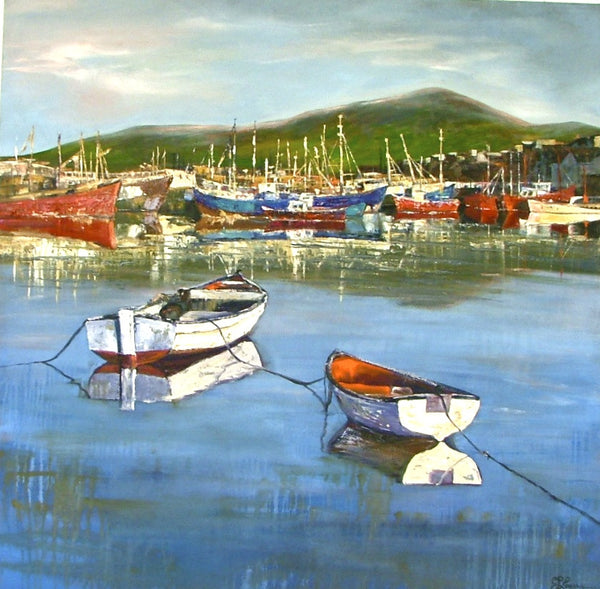 "Dingle Harbor  48x48""  SOLD"