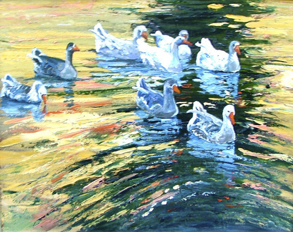 Ducks - 20 x 24  700. SOLD