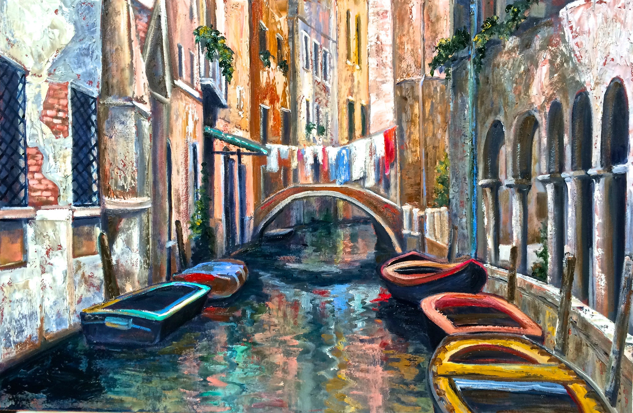 Gondolas and Laundry - 24 x 36  SOLD