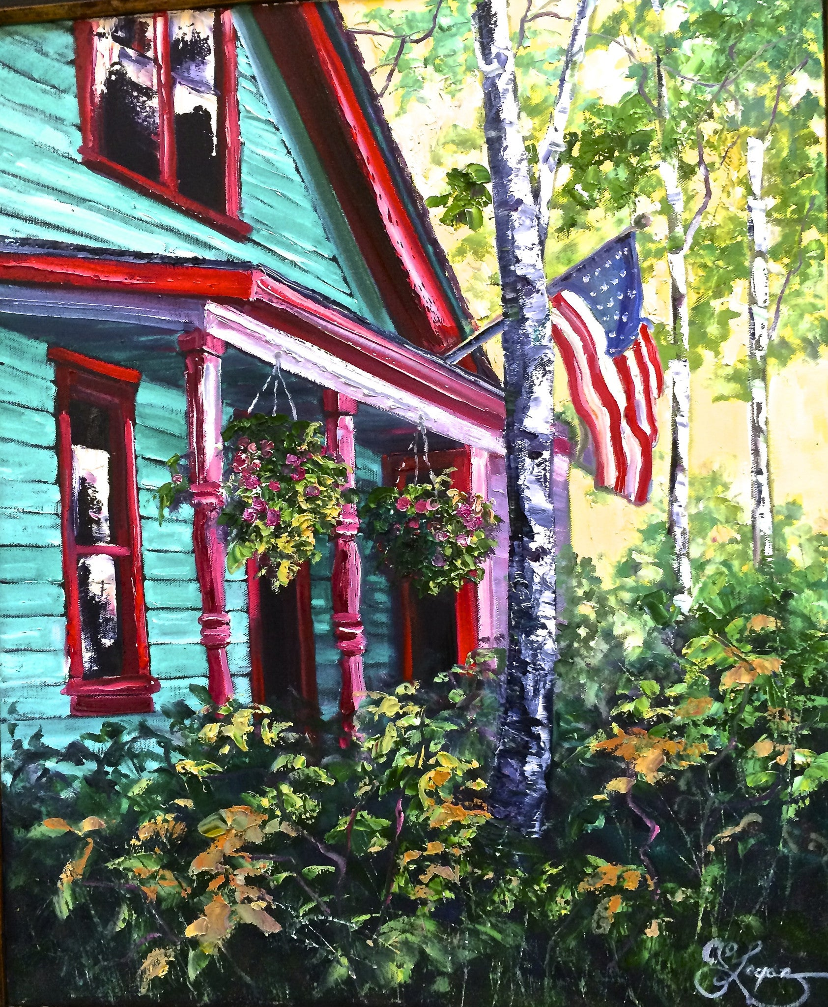 The Mountain House  18x24  650.00