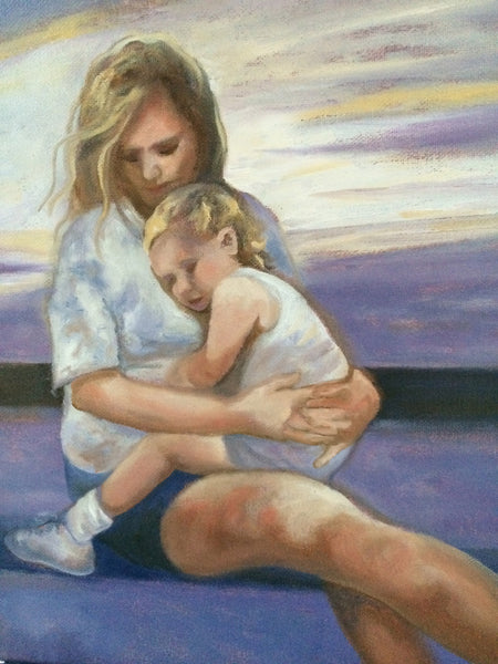 "A MOTHER'S LOVE  11X14"" SOLD"