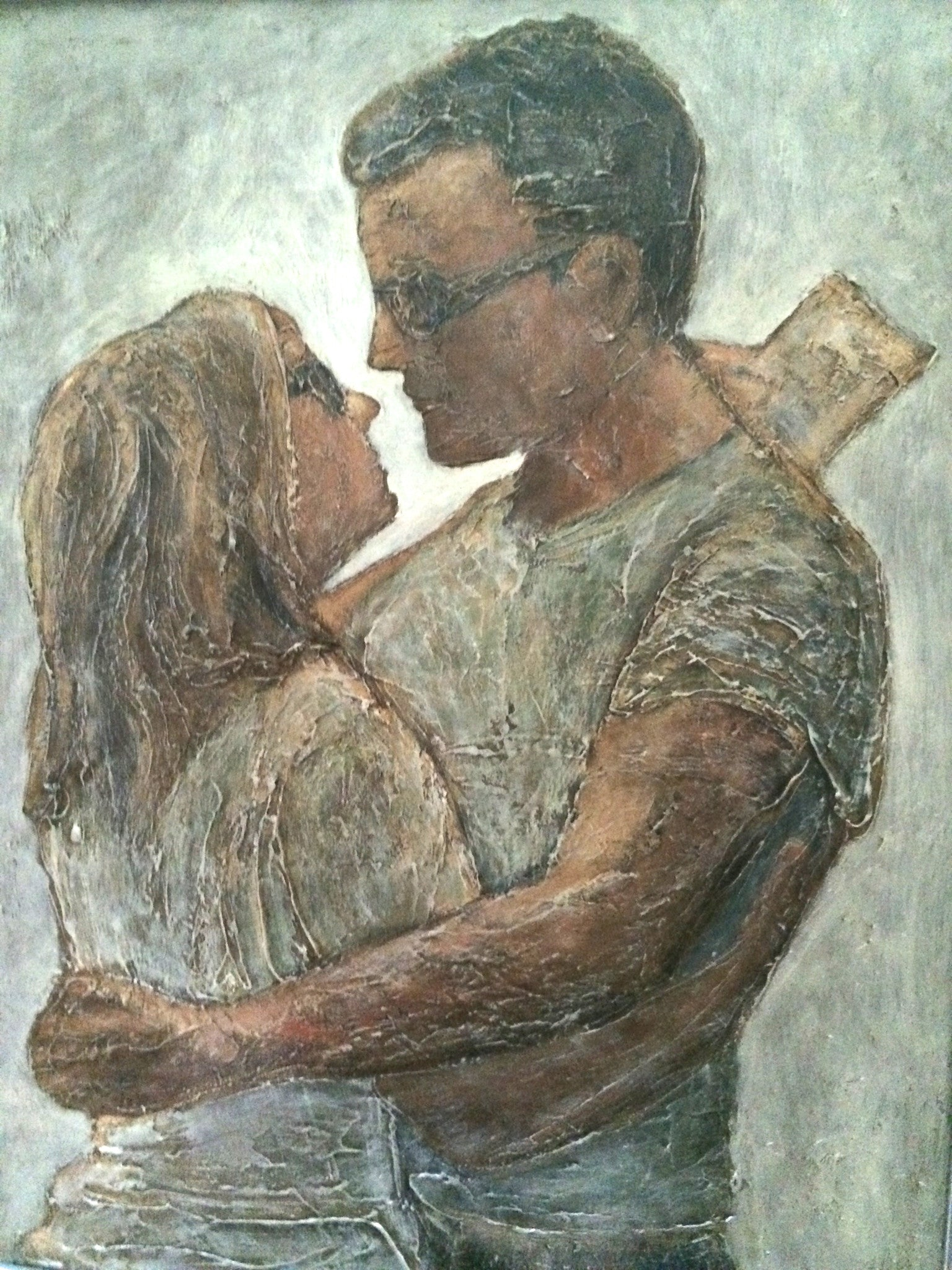 "ITALIAN LOVERS  22X28""SOLD"