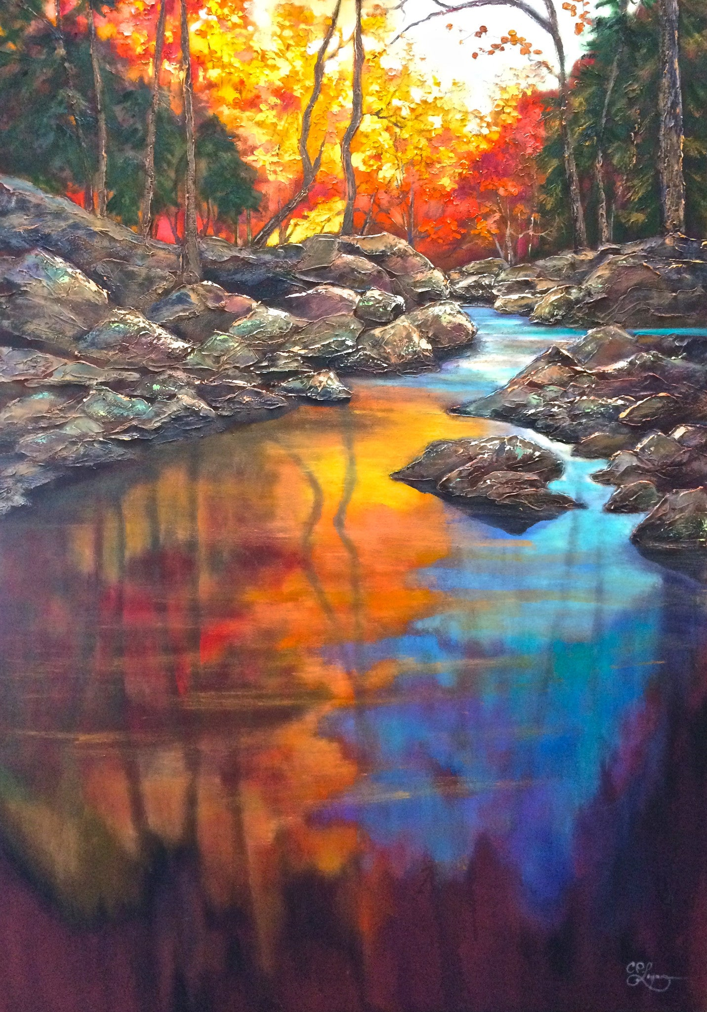 "TECHNICOLOR REFLECTIONS 42X60"" SOLD"