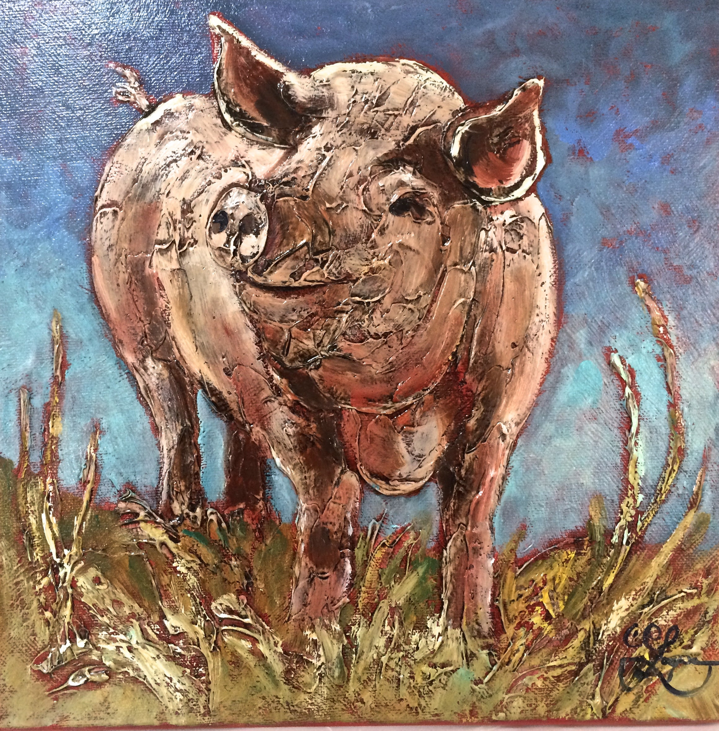 "Wilber  12x12""  250. SOLD"