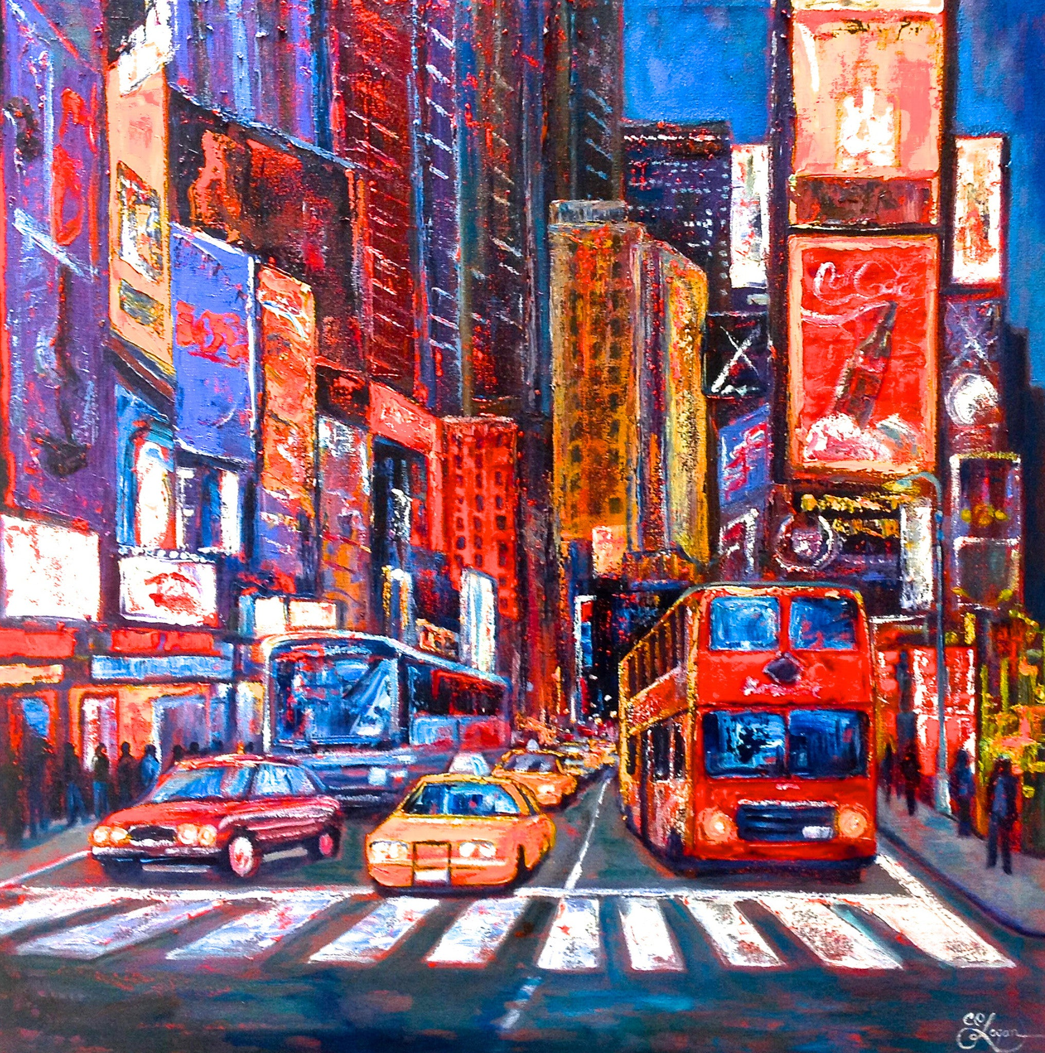 Neon in Times Square - 48 x 48 1800.