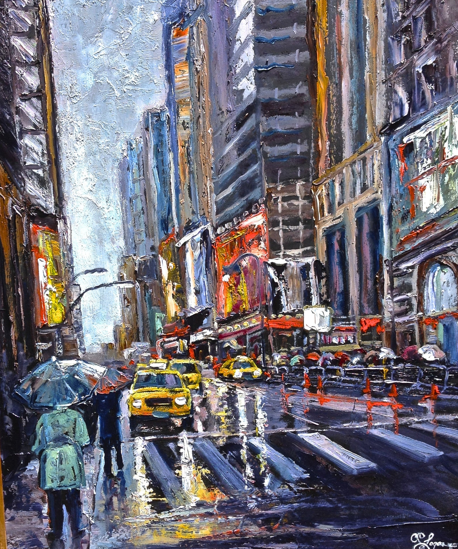 Rainy Day Reflections - 28 x 22 SOLD